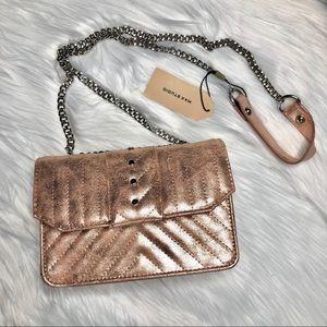 Max Studio Rose Gold Chain Crossbody Bag Purse NWT